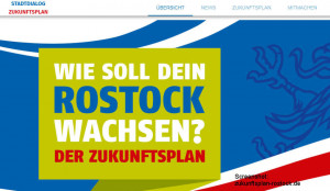 Screenshot zukunftsplan-rostock.de