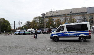 AfD-Demo Polizei