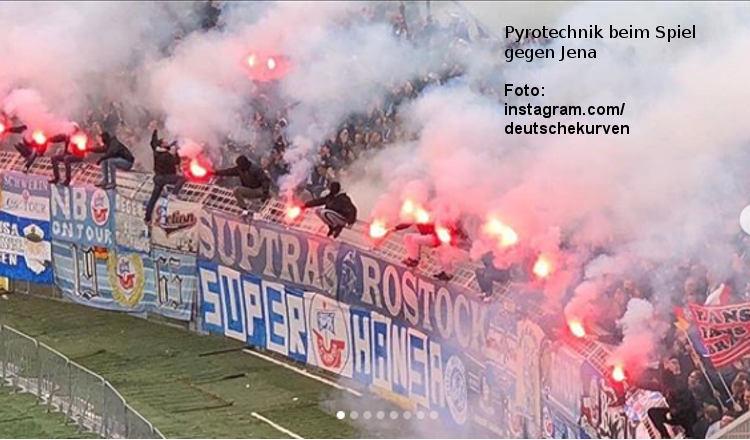 Unentschieden zwischen Hansa Rostock und Carl Zeiss Jena 1:1