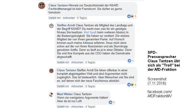 "Landtag MV: ""Troll""-Trubel um SPD-Pressesprecher. AfD ist genervt."