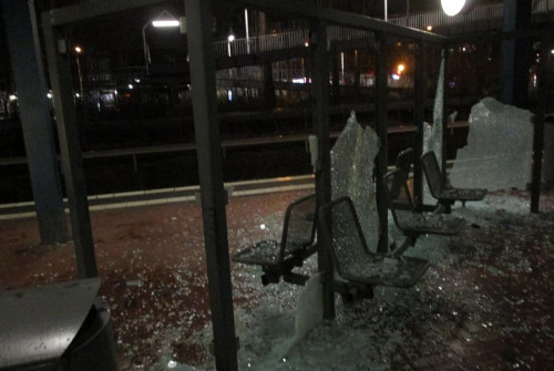 Rostock: Vandalismus am S-Bahnhaltepunkt Lichtenhagen