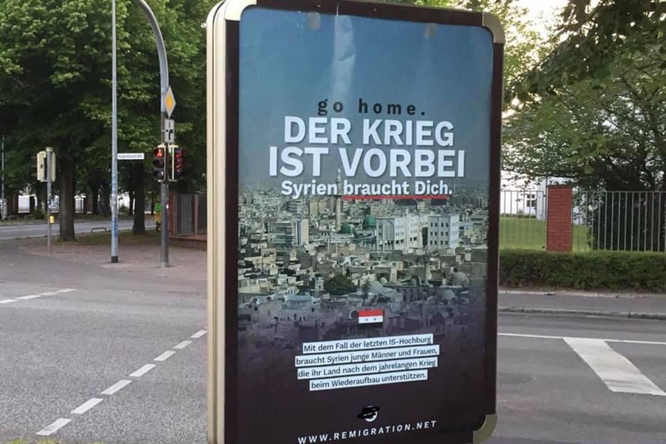 Identitäre Bewegung plakatiert illegal in Rostock
