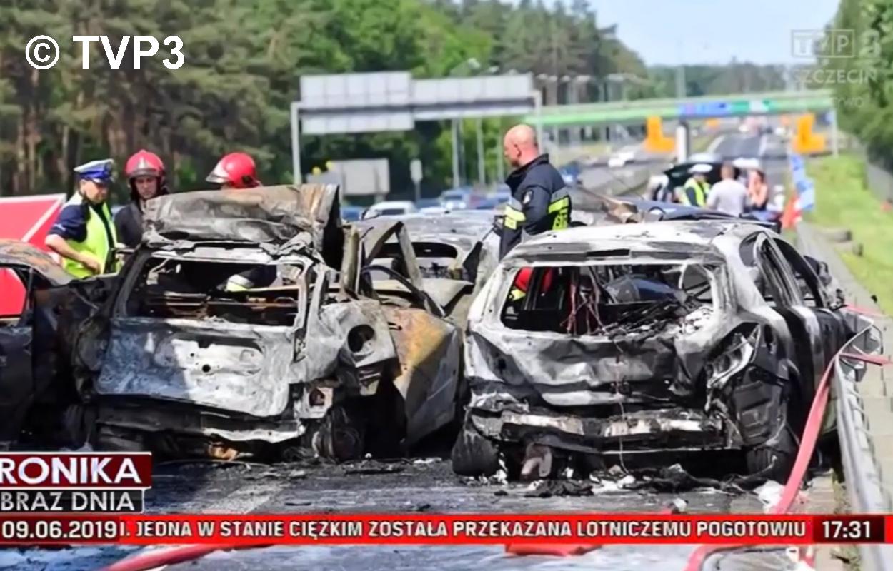 Schwerer Unfall vor Stettin – 6 Tote auf der A6