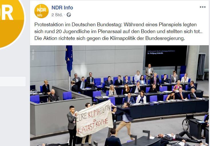 Exklusiv-Video: Klimaschutz-Inszenierung gescheitert – JA-Aktivist riss Banner weg