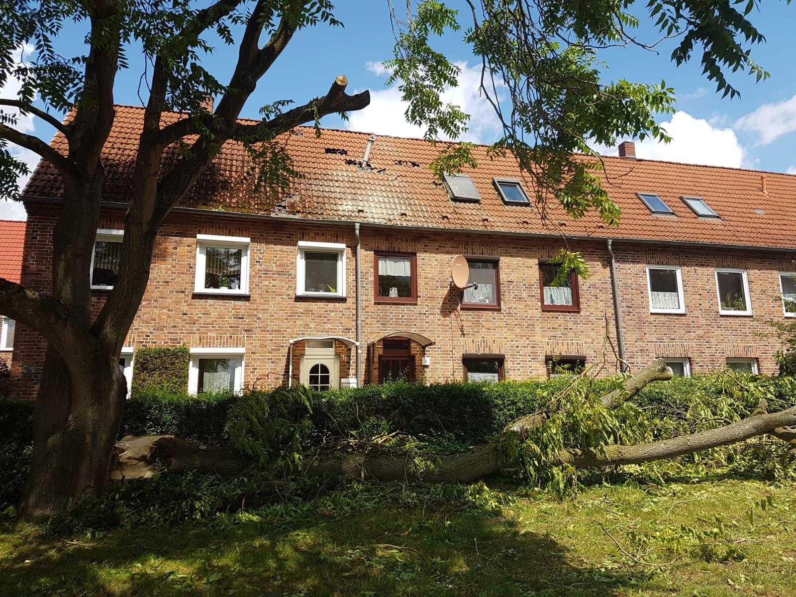 Unerwartetes Unwetter: Viele Schäden in Schwerin
