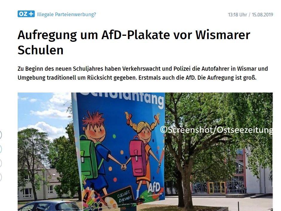 Medienkritik: Künstliche mediale Aufregung um AfD-Plakate