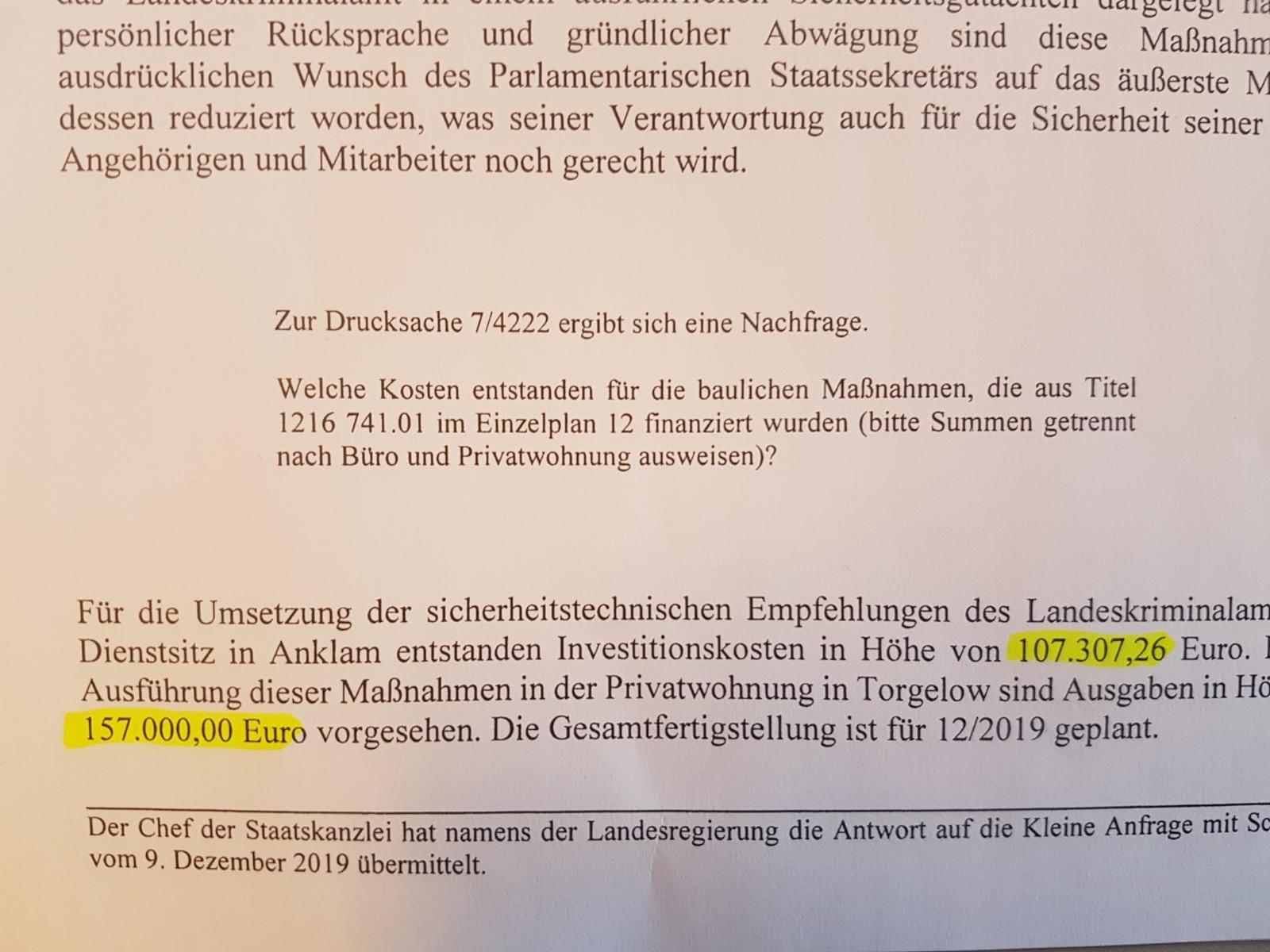 Lebt Staatssekretär Dahlemann gefährlich?
