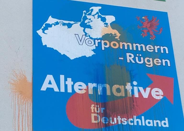 Rügen: Farbanschlag auf AfD-Büro