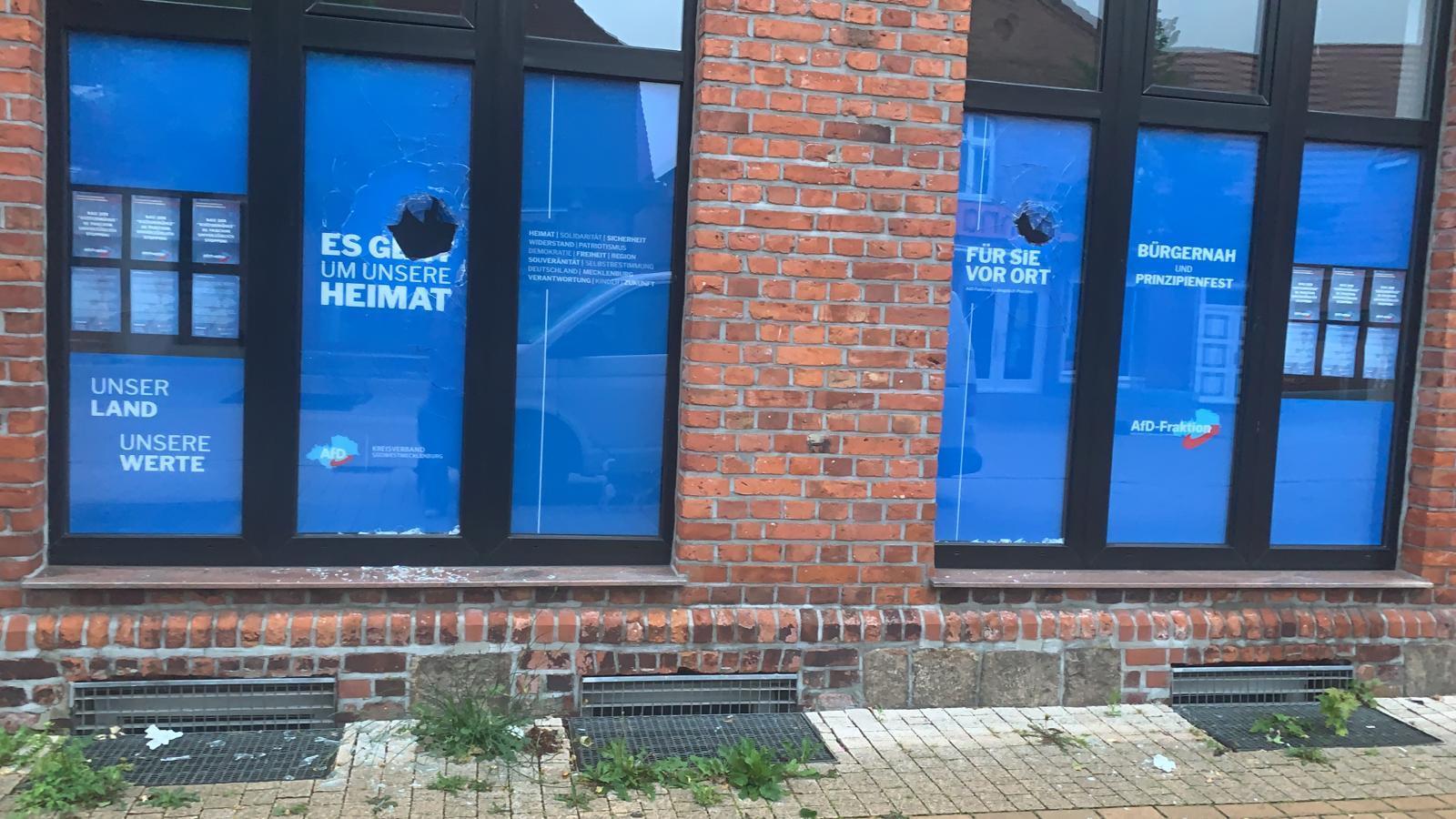 Angriff auf AfD-Parteibüro in Ludwiglust