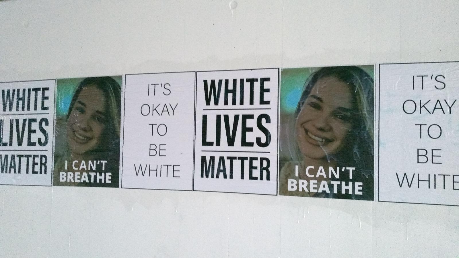 Identitäre plakatieren ohne Erlaubnis