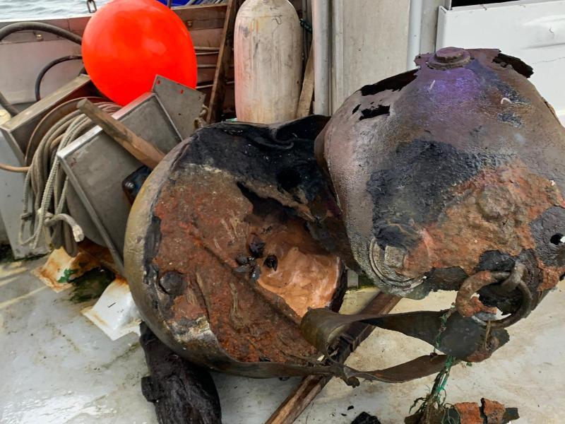 5-Zentner Seemine vor Heiligendamm entdeckt