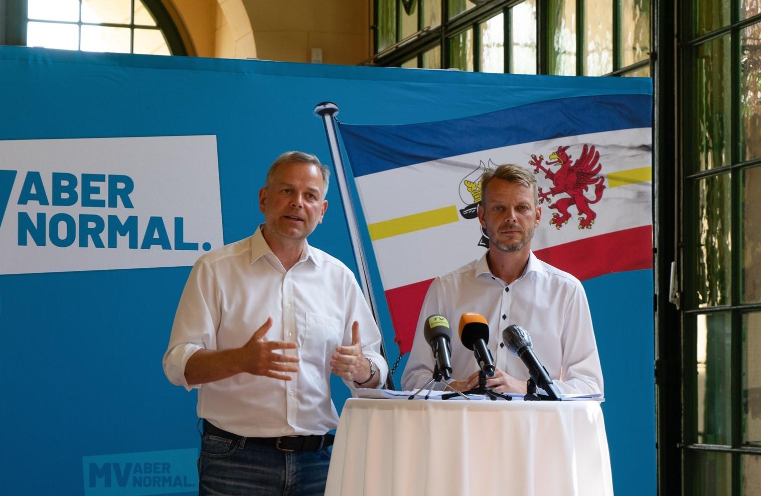 MV: AfD-Chefs präsentieren das Landtagswahlprogramm